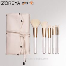 10 pcs Wood handle high quality Private label gold ferrule Makeup Brush set