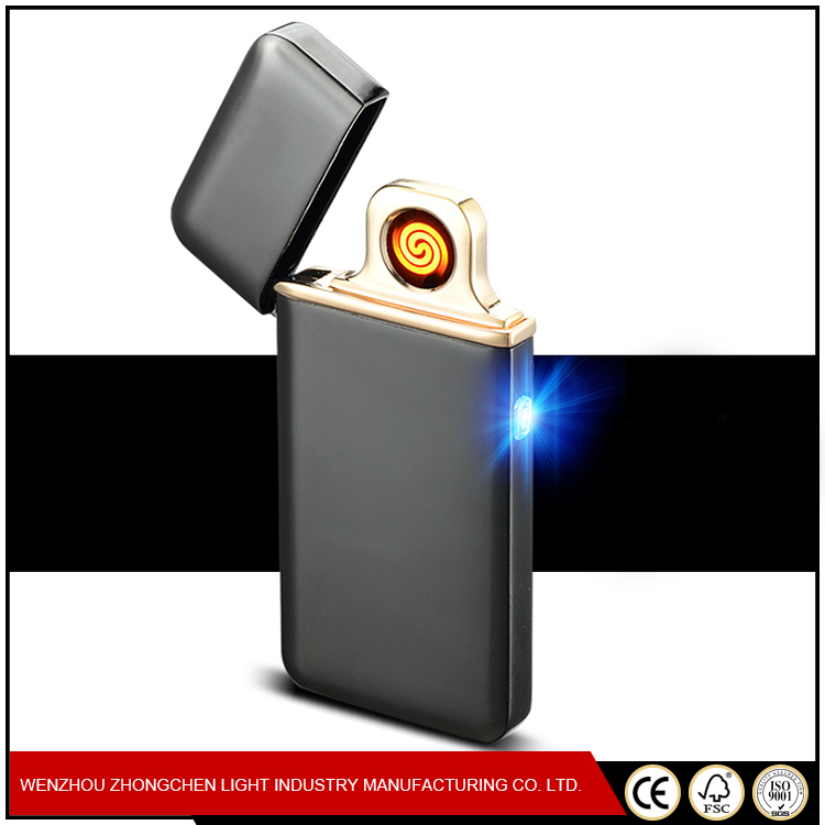 Creative Metal USB Electric Lighter Cigarette Slim USB Lighter with Touch Sensor