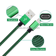 Colorful Braided Nylon Aluminum Fastest 1M Data wholesale usb cable for iphone <strong>X</strong>