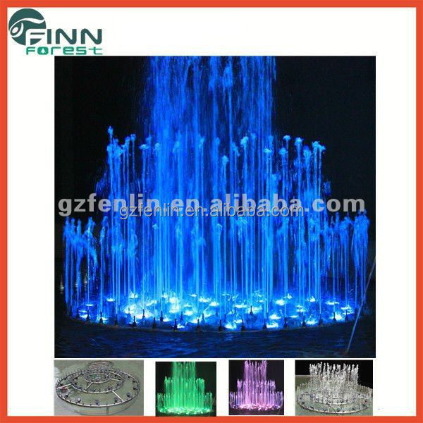 outdoor fountains led lighting music dancing flower