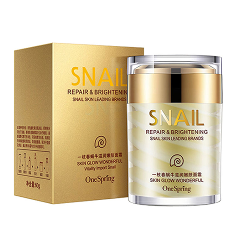 OEM women beauty-aging day night firming snail white <strong>cream</strong> for pimples