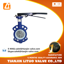 high quality cast iron counter weight soft sealed butterfly valve