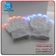 Fashion led flashlight glove trend party Unisex warm gloves