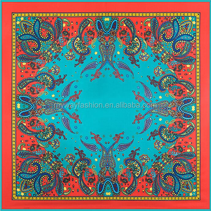 high quality 14mm twill silk scarf