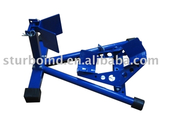 wheel chock, for motorcycle, width adjustable