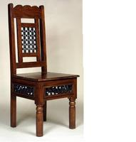 Wooden Chair with iron jali fitting