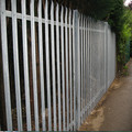 low cost car park steel palisade security fencing