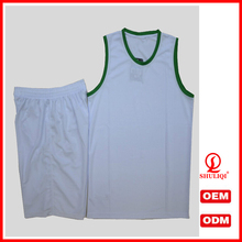 custom fashion design short sleeves basketball jerseys with mesh fabric