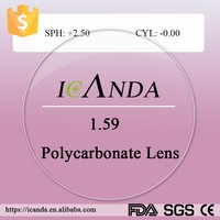 1.59 high impact lens anti scratch polycarbonate