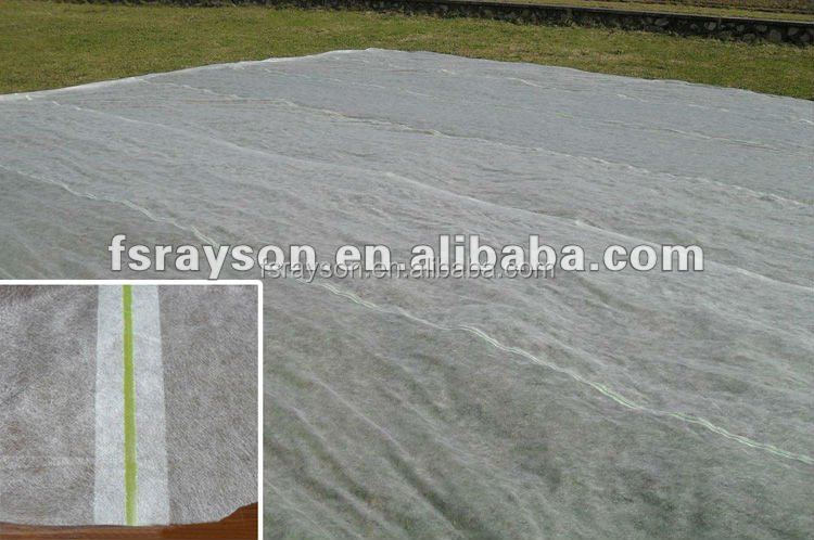 UV stabilized nonwoven weed control fabric