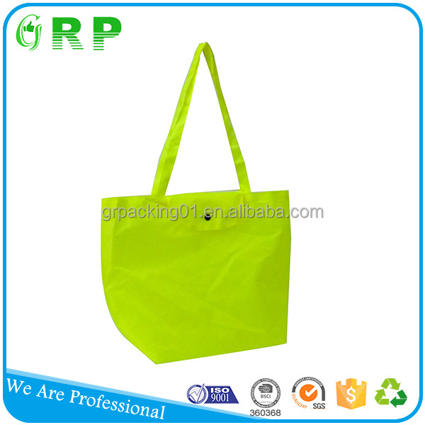 New recycle eco-friendly light weight polyester foldable bag