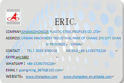 ShanXi ZhongDe upvc profile rubber co-extrusion supply pvc window and door profile extrusion