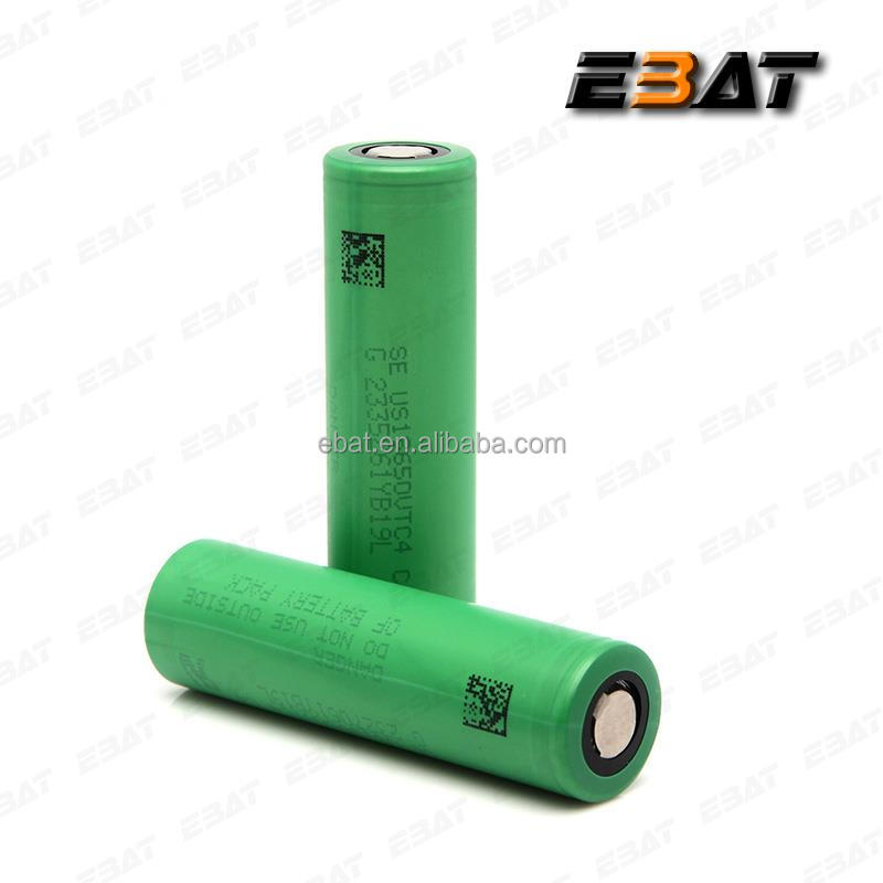 China supplier se us18650vt battery made in Japan 30A discharge battery for VTC4