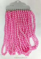 fashion handmade imitation plastic pearls beaded single strand necklace
