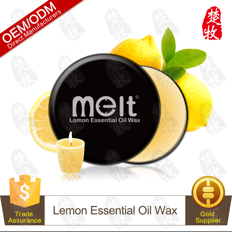 China Manufacturer Supply Lemon Essential Oil Body Massage Candle Soy Wax for Luxury Spa