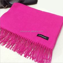 Fashionable winter unisex solid classic luxury soft cashmere feel fringe scarf 24 colors