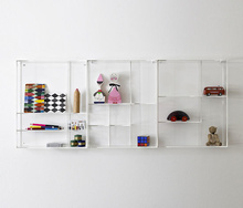 Wall Mounted Clear Acrylic Home Book Display Box Shelves