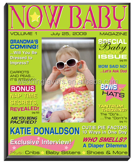 Personalized Baby Magazine Frame - Girl or Boy