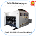 TB480 2 color flexographic printing machine for corrugated cardboard carton box