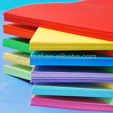 Full color for choice 500*700mm big flat paper sheet pallet packed coloured paper