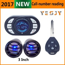high quality fm voice prompt motorcycle alarm mp3 player