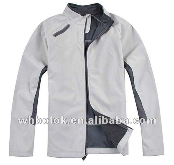 Man spring fashion white viscose windproof casual jacket