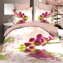 Wholesale King size 3D printed flowers bedding sets from China
