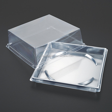 China Custom disposable ecofriendly biodegradable PET OPS PP Clear silver plastic cake box container blister packaging