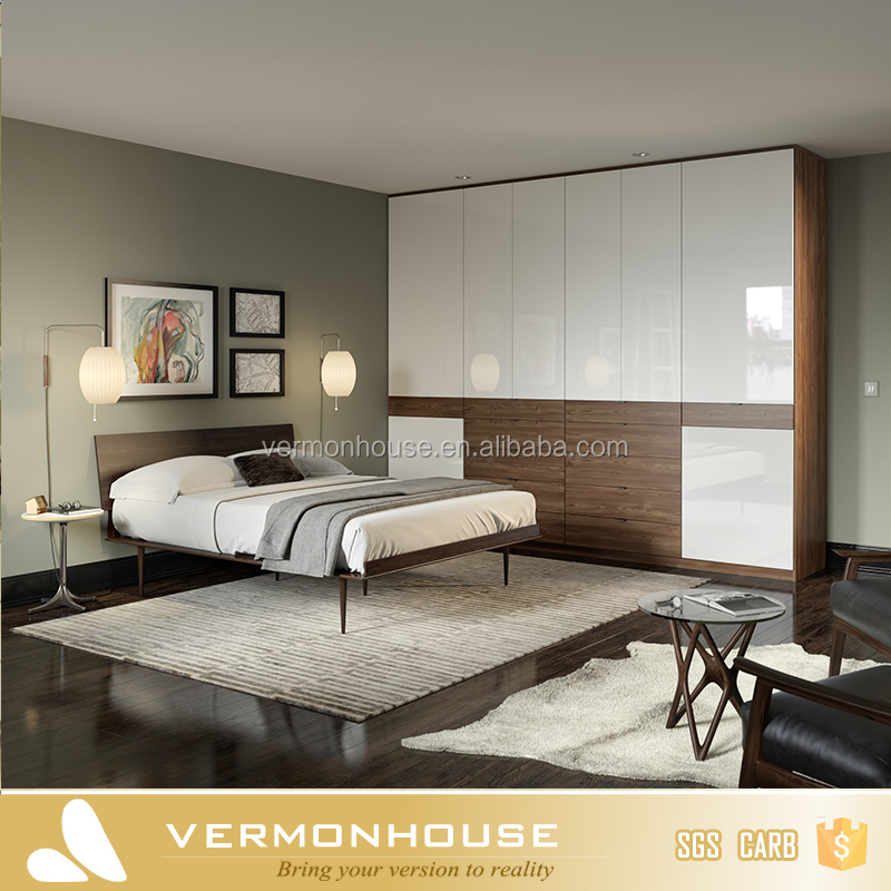 HangZhou Cheap Bedroom Furniture Sets Aluminium Almirah Design Wardrobe