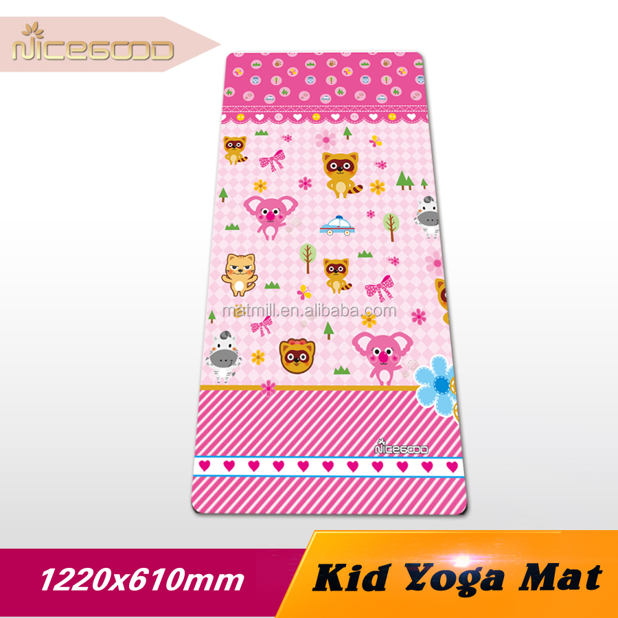 cheap yoga mat for kid,cute yoga mat material washable