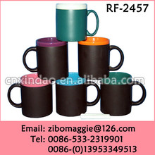 11oz Popular Daily Used Ceramic Chalk Mug with Assorted Color for Tumbler Ceramic Coffee Cup