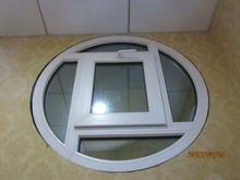 factory price safety glass upvc round window