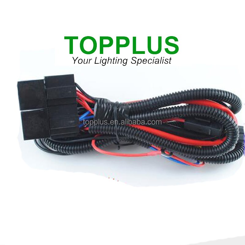 Durable 35W H4-4 HID wire Hid relay wiring harness