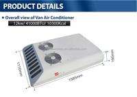 12v 24v van roof mount small size air conditioning system for minivan, minibus, truck, tractor cab, engineering vehicle
