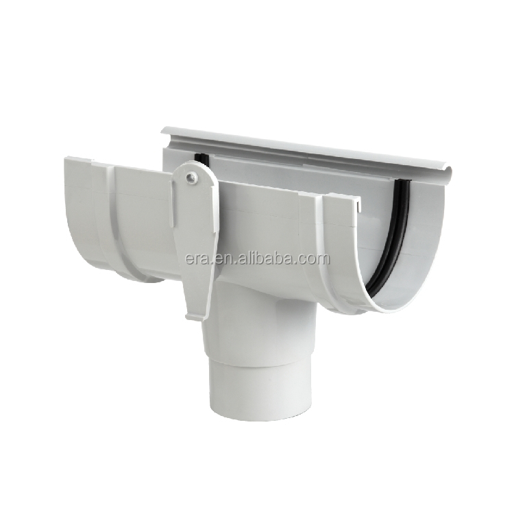 ERA KITEMARK CERTIFICATE 125MM PVC RAIN WATER GUTTER FITTINGS TEE