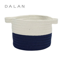 Eco-friendly cute toys sundries cotton rope storage basket