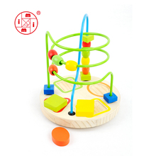 small wooden educational toy for kids mini beads coaster