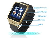 Android 4.4 OS 3G smart watch phone MTK6572 chip with wifi Bluetooth
