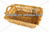 Fancy tray willow baskets.
