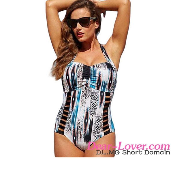Print Style Plus Size One Piece private label swimwear manufacturer