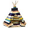 Removable and Washable Stripe Pet Kennels Teepee Pet Play House Dog Play Tent Cat /Dog Bed ( Including Mats)