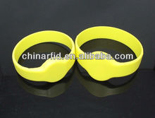 High Quality RFID Silicon Wristbands for Events, Waterproof RFID Wristbands nfc Ntag203/213/216