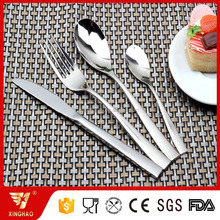 Wholesale Hot Sale Shiny Mirror Polish Kitchen Flatware Steel Cutlery Set with OEM Customized Logo with stand