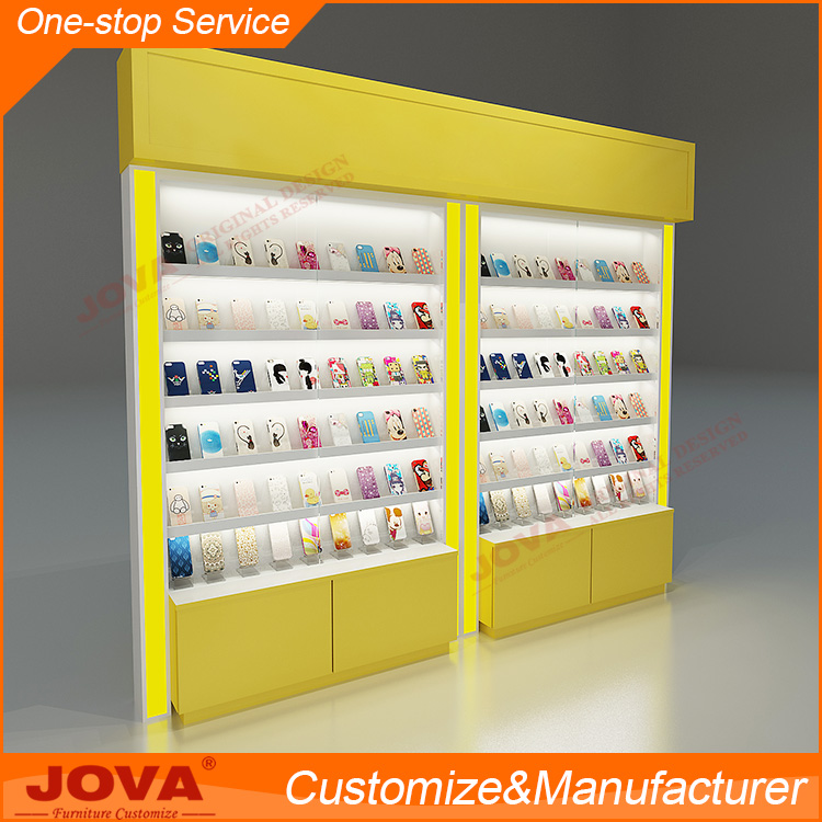 Customized cell phone display case with free design