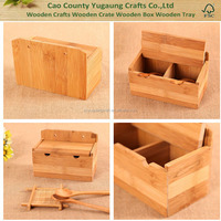 Factory Price FSC Wooden Spice Storage Box Condiment Box Seasoning Box