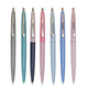 Custom Logo Promotional Colorful Hotel Plastic Ball Pen with Metal Clip