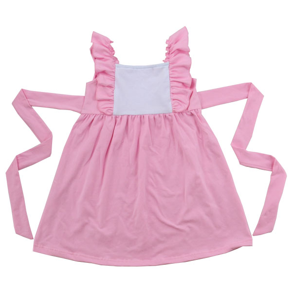 KaiYo Summer Pink Bib Ruffles Backless Baby Girls Pineapple Dress