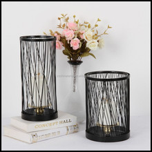 Best Selling Metal Rose Gold Candle Holder WIth Black Color Set Of 2 For European Home Decor And China Gift Items