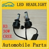 wholesale car accessories led headlight bulb for motorcycles h3 h1 led headlight 30w 6000k 3000lm