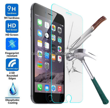 Trade assurance supplier 2.5D 0.3mm 9H HD clear tempered glass screen protector for iPhone 5S 6 6s 7 plus 8 X